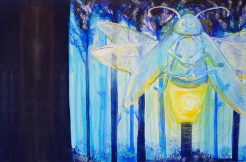 Glüwürmchen Illustration